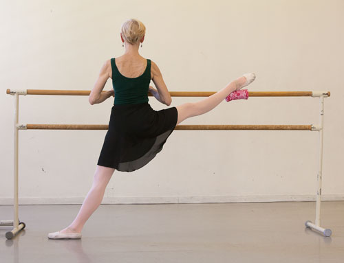 The Ballet Glider in use at the barre